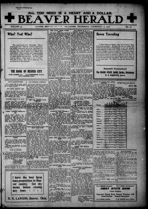 Beaver Herald (Beaver, Okla.), Vol. 32, No. 28, Ed. 1, Thursday, December 12, 1918