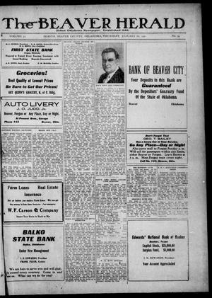 Primary view of The Beaver Herald (Beaver, Okla.), Vol. 33, No. 34, Ed. 1, Thursday, January 20, 1921
