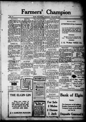 Farmers' Champion (Elgin, Okla.), Vol. 4, No. 16, Ed. 1, Wednesday, January 28, 1914