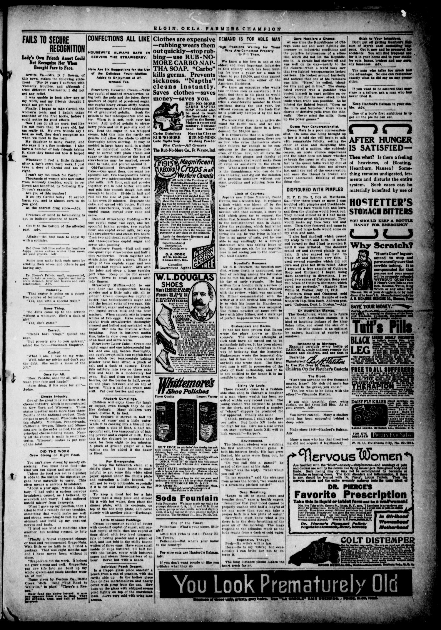 Farmers' Champion (Elgin, Okla.), Vol. 4, No. 33, Ed. 1, Wednesday, May 27, 1914                                                                                                      [Sequence #]: 3 of 4