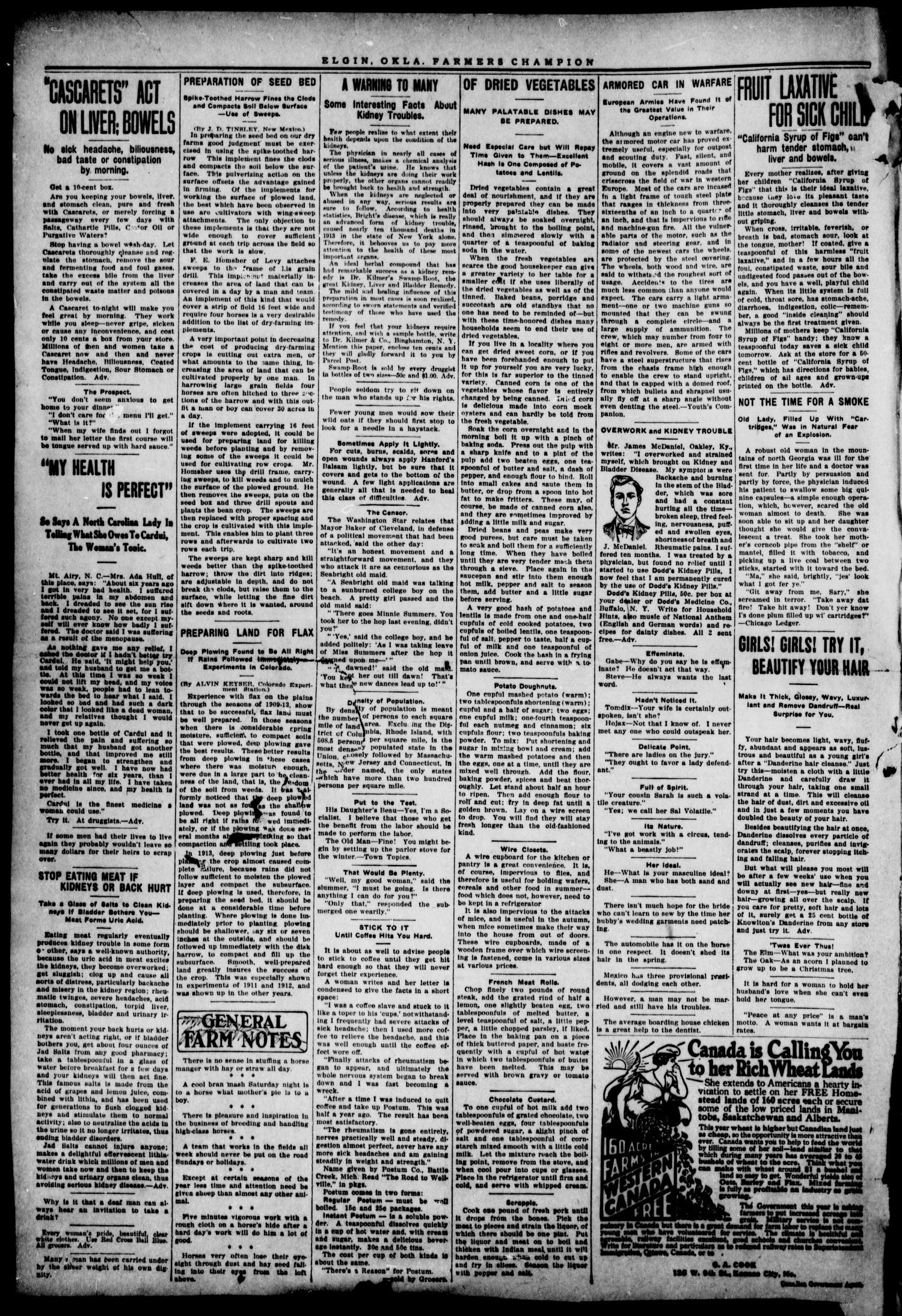 Farmers' Champion (Elgin, Okla.), Vol. 5, No. 13, Ed. 1, Wednesday, January 6, 1915                                                                                                      [Sequence #]: 2 of 4