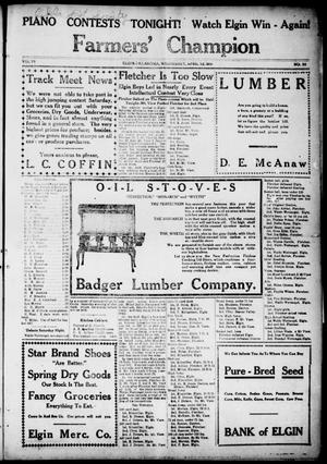 Farmers' Champion (Elgin, Okla.), Vol. 6, No. 30, Ed. 1, Wednesday, April 12, 1916