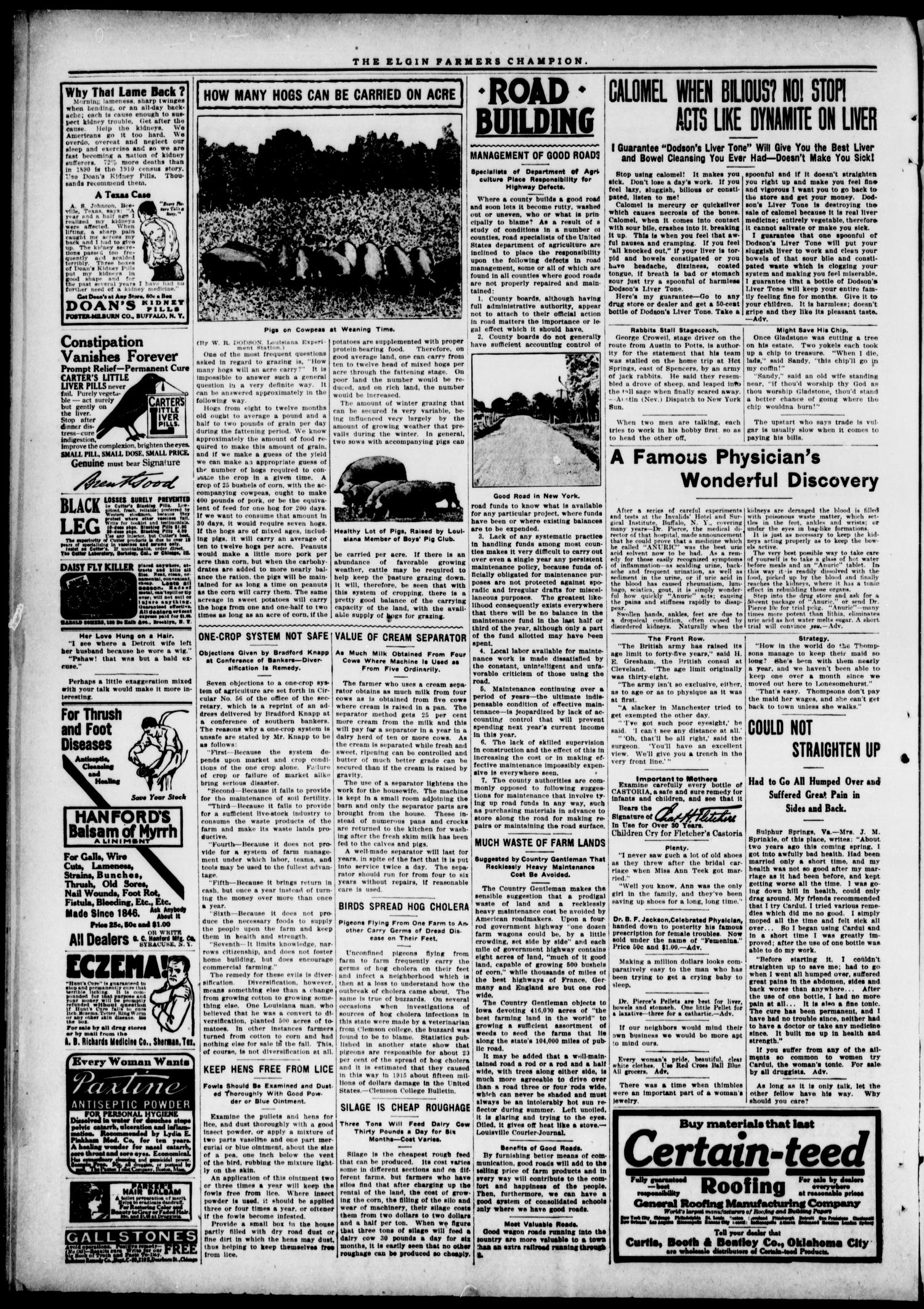 Farmers' Champion (Elgin, Okla.), Vol. 6, No. 35, Ed. 1, Wednesday, May 17, 1916                                                                                                      [Sequence #]: 2 of 4