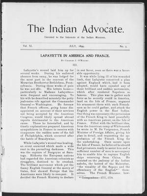 The Indian Advocate. (Sacred Heart Mission, Okla. Terr.), Vol. 11, No. 3, Ed. 1, Saturday, July 1, 1899
