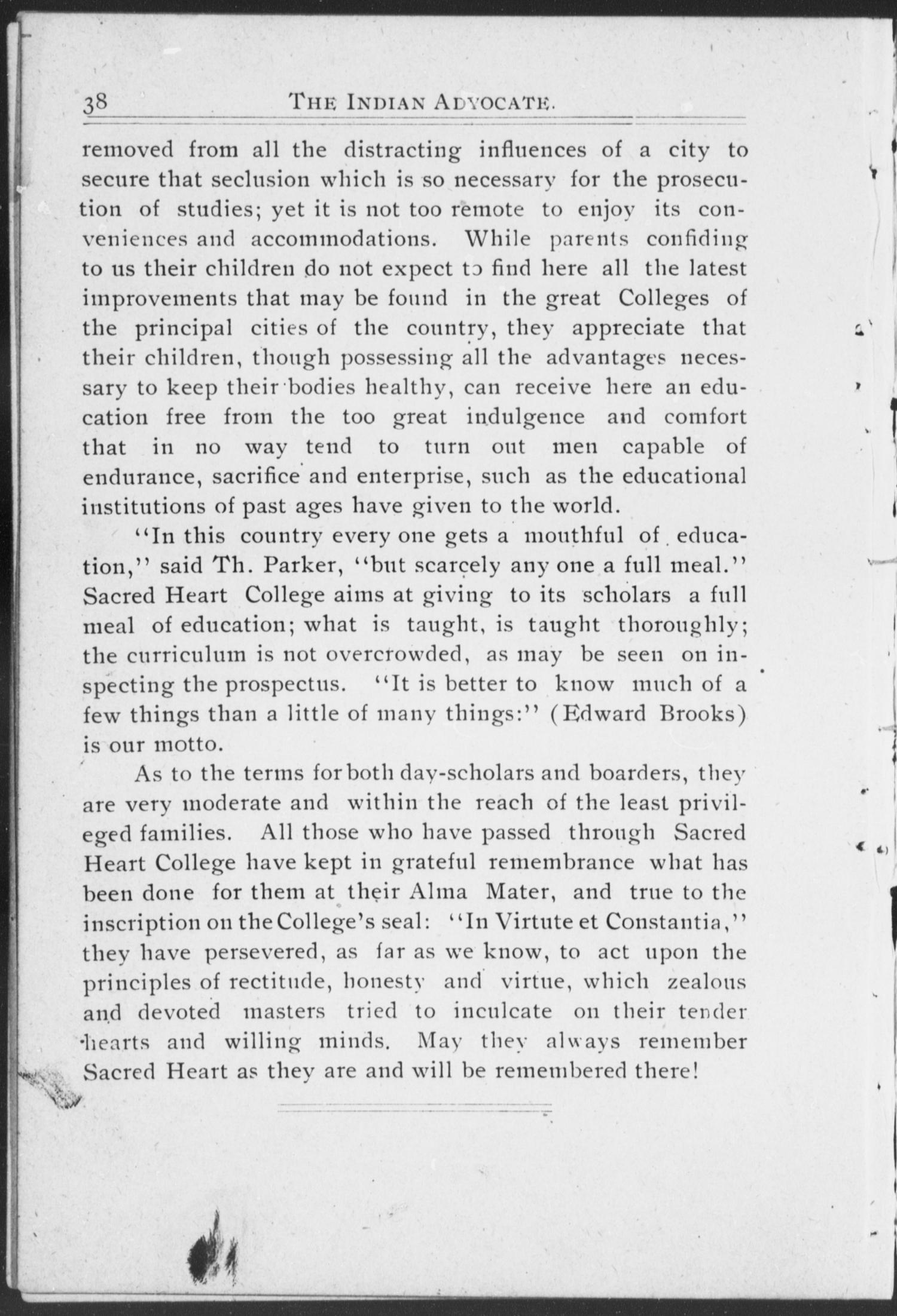 The Indian Advocate. (Sacred Heart Mission, Okla. Terr.), Vol. 12, No. 2, Ed. 1, Thursday, March 1, 1900                                                                                                      [Sequence #]: 10 of 24
