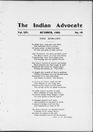 The Indian Advocate (Sacred Heart Mission, Okla. Terr.), Vol. 14, No. 10, Ed. 1, Wednesday, October 1, 1902