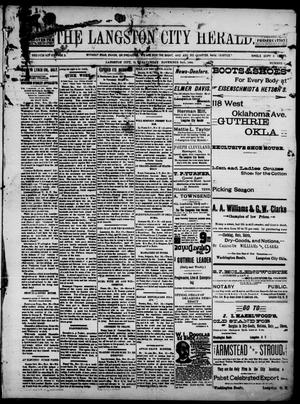 Primary view of object titled 'The Langston City Herald. (Langston City, Okla. Terr.), Vol. 4, No. 31, Ed. 1, Saturday, November 24, 1894'.