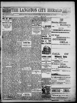 Primary view of object titled 'The Langston City Herald. (Langston City, Okla. Terr.), Vol. 5, No. 2, Ed. 1, Saturday, May 4, 1895'.