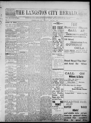 Primary view of object titled 'The Langston City Herald. (Langston City, Okla. Terr.), Vol. 5, No. 23, Ed. 1, Saturday, September 28, 1895'.
