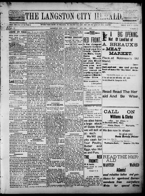 Primary view of object titled 'The Langston City Herald. (Langston City, Okla. Terr.), Vol. 5, No. 26, Ed. 1, Saturday, October 19, 1895'.