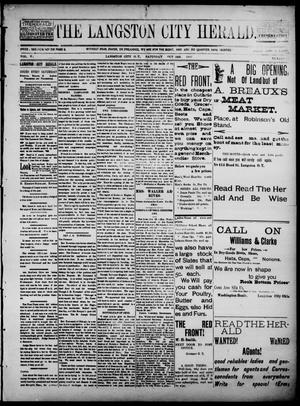 Primary view of object titled 'The Langston City Herald. (Langston City, Okla. Terr.), Vol. 5, No. 27, Ed. 1, Saturday, October 26, 1895'.