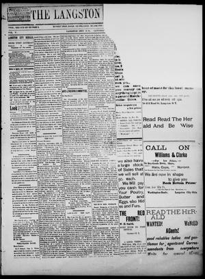 Primary view of object titled 'The Langston City Herald. (Langston City, Okla. Terr.), Vol. 5, No. 28, Ed. 1, Saturday, November 2, 1895'.