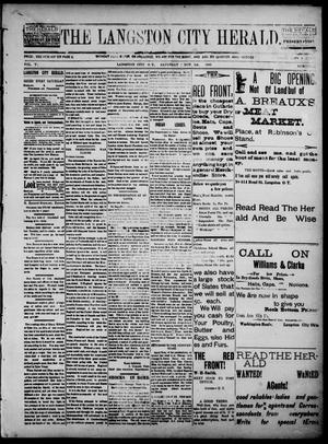 Primary view of object titled 'The Langston City Herald. (Langston City, Okla. Terr.), Vol. 5, No. 29, Ed. 1, Saturday, November 9, 1895'.