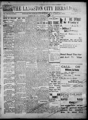 Primary view of object titled 'The Langston City Herald. (Langston City, Okla. Terr.), Vol. 5, No. 31, Ed. 1, Saturday, November 23, 1895'.