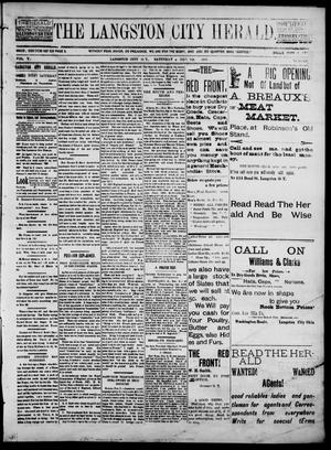 Primary view of object titled 'The Langston City Herald. (Langston City, Okla. Terr.), Vol. 5, No. 33, Ed. 1, Saturday, December 7, 1895'.