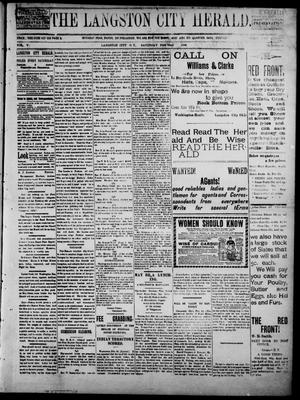 Primary view of object titled 'The Langston City Herald. (Langston City, Okla. Terr.), Vol. 5, No. 44, Ed. 1, Saturday, February 22, 1896'.