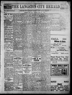 Primary view of object titled 'The Langston City Herald. (Langston City, Okla. Terr.), Vol. 5, No. 46, Ed. 1, Saturday, March 7, 1896'.