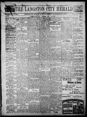 Primary view of object titled 'The Langston City Herald. (Langston City, Okla. Terr.), Vol. 6, No. 2, Ed. 1, Saturday, May 2, 1896'.