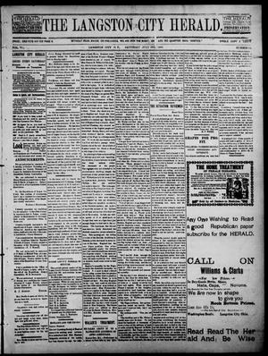 Primary view of object titled 'The Langston City Herald. (Langston City, Okla. Terr.), Vol. 6, No. 12, Ed. 1, Saturday, July 11, 1896'.