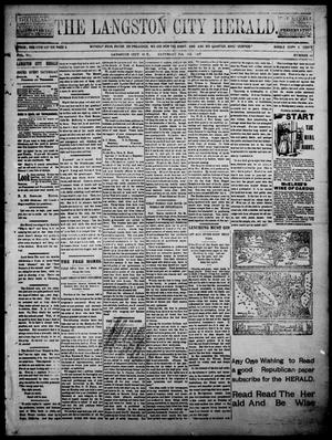 Primary view of object titled 'The Langston City Herald. (Langston City, Okla. Terr.), Vol. 6, No. 10, Ed. 1, Saturday, February 6, 1897'.
