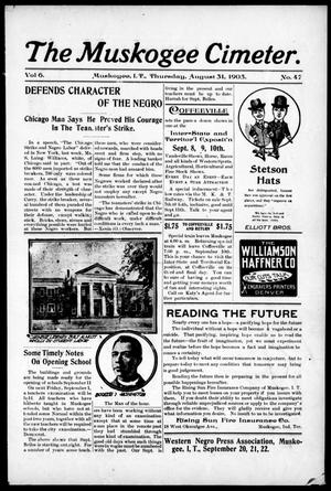 The Muskogee Cimeter. (Muskogee, Indian Terr.), Vol. 6, No. 47, Ed. 1, Thursday, August 31, 1905