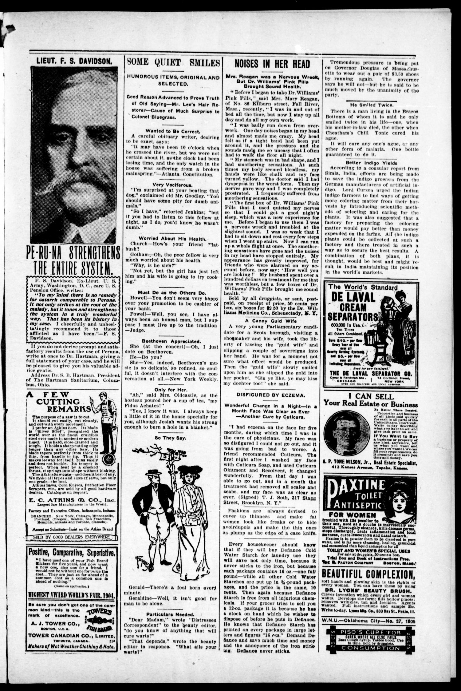 The Muskogee Cimeter. (Muskogee, Indian Terr.), Vol. 6, No. 49, Ed. 1, Thursday, September 14, 1905                                                                                                      [Sequence #]: 3 of 8