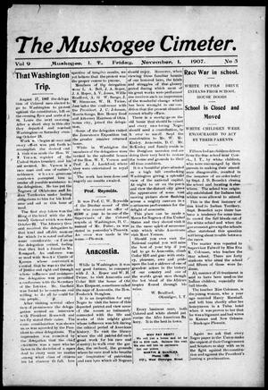 The Muskogee Cimeter. (Muskogee, Indian Terr.), Vol. 9, No. 5, Ed. 1, Friday, November 1, 1907