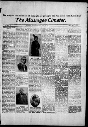 Primary view of object titled 'The Muskogee Cimeter. (Muskogee, Okla.), Vol. 18, No. 23, Ed. 1, Saturday, June 23, 1917'.