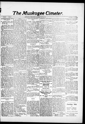The Muskogee Cimeter. (Muskogee, Okla.), Vol. 18, No. 42, Ed. 1, Saturday, October 13, 1917