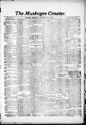 Primary view of object titled 'The Muskogee Cimeter. (Muskogee, Okla.), Vol. 18, No. 30, Ed. 1, Saturday, February 16, 1918'.