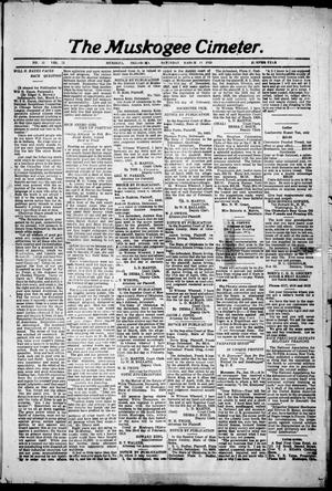 Primary view of object titled 'The Muskogee Cimeter. (Muskogee, Okla.), Vol. 22, No. 11, Ed. 1, Saturday, March 13, 1920'.