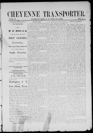 Primary view of Cheyenne Transporter. (Darlington, Indian Terr.), Vol. 2, No. 3, Ed. 1, Saturday, September 25, 1880