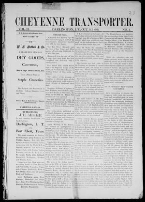 Primary view of Cheyenne Transporter. (Darlington, Indian Terr.), Vol. 2, No. 4, Ed. 1, Saturday, October 9, 1880