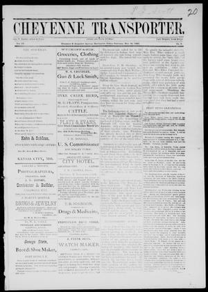 Primary view of Cheyenne Transporter. (Darlington, Indian Terr.), Vol. 4, No. 5, Ed. 1, Saturday, November 25, 1882