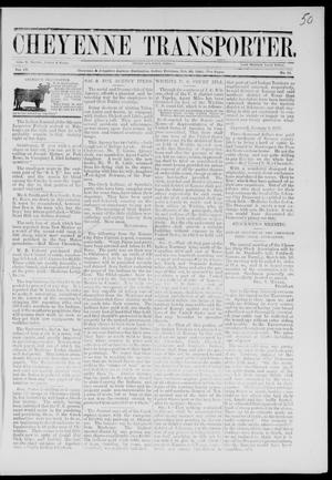 Cheyenne Transporter. (Darlington, Indian Terr.), Vol. 4, No. 11, Ed. 1, Monday, February 26, 1883