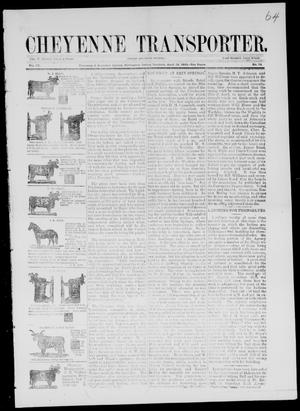 Primary view of Cheyenne Transporter. (Darlington, Indian Terr.), Vol. 4, No. 14, Ed. 1, Thursday, April 12, 1883
