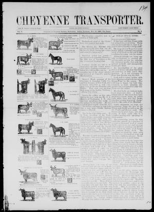 Primary view of Cheyenne Transporter. (Darlington, Indian Terr.), Vol. 5, No. 4, Ed. 1, Saturday, November 10, 1883