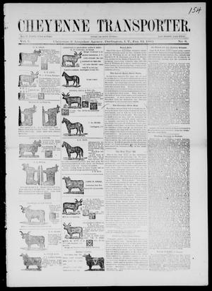 Primary view of Cheyenne Transporter. (Darlington, Indian Terr.), Vol. 5, No. 8, Ed. 1, Sunday, January 13, 1884