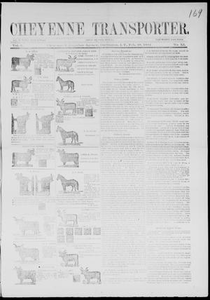 Primary view of Cheyenne Transporter. (Darlington, Indian Terr.), Vol. 5, No. 11, Ed. 1, Thursday, February 28, 1884