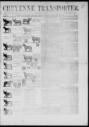 Primary view of Cheyenne Transporter. (Darlington, Indian Terr.), Vol. 6, No. 3, Ed. 1, Wednesday, November 5, 1884