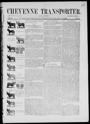 Primary view of Cheyenne Transporter. (Darlington, Indian Terr.), Vol. 6, No. 4, Ed. 1, Friday, December 5, 1884