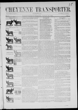 Cheyenne Transporter. (Darlington, Indian Terr.), Vol. 6, No. 8, Ed. 1, Friday, January 30, 1885