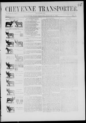 Cheyenne Transporter. (Darlington, Indian Terr.), Vol. 6, No. 10, Ed. 1, Saturday, February 28, 1885