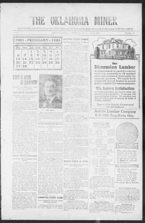 The Oklahoma Miner (Krebs, Okla.), Vol. 9, No. 52, Ed. 1, Thursday, February 3, 1921
