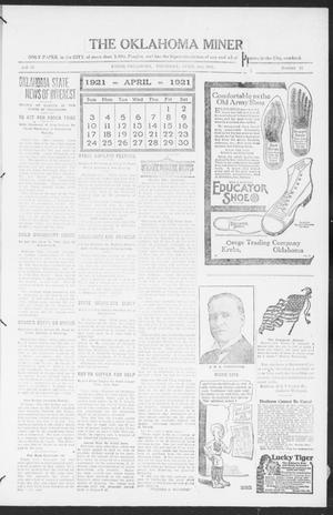 The Oklahoma Miner (Krebs, Okla.), Vol. 10, No. 11, Ed. 1, Thursday, April 21, 1921