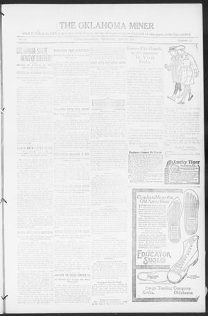 Primary view of object titled 'The Oklahoma Miner (Krebs, Okla.), Vol. 10, No. 13, Ed. 1, Thursday, May 5, 1921'.
