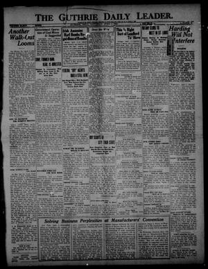 Primary view of object titled 'The Guthrie Daily Leader. (Guthrie, Okla.), Vol. 54, No. 10, Ed. 1 Saturday, April 1, 1922'.