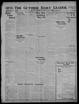 Primary view of object titled 'The Guthrie Daily Leader. (Guthrie, Okla.), Vol. 54, No. 86, Ed. 1 Tuesday, December 27, 1921'.