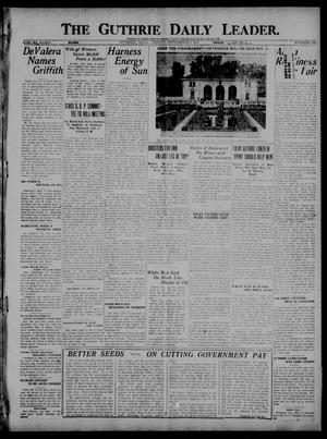 Primary view of object titled 'The Guthrie Daily Leader. (Guthrie, Okla.), Vol. 54, No. 152, Ed. 1 Friday, September 9, 1921'.