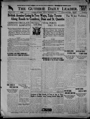 Primary view of The Guthrie Daily Leader. (Guthrie, Okla.), Vol. 52, No. 28, Ed. 1 Monday, September 9, 1918